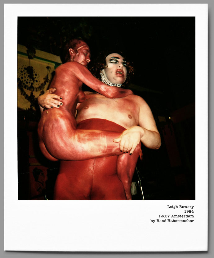 Leigh Bowery by René Habermacher