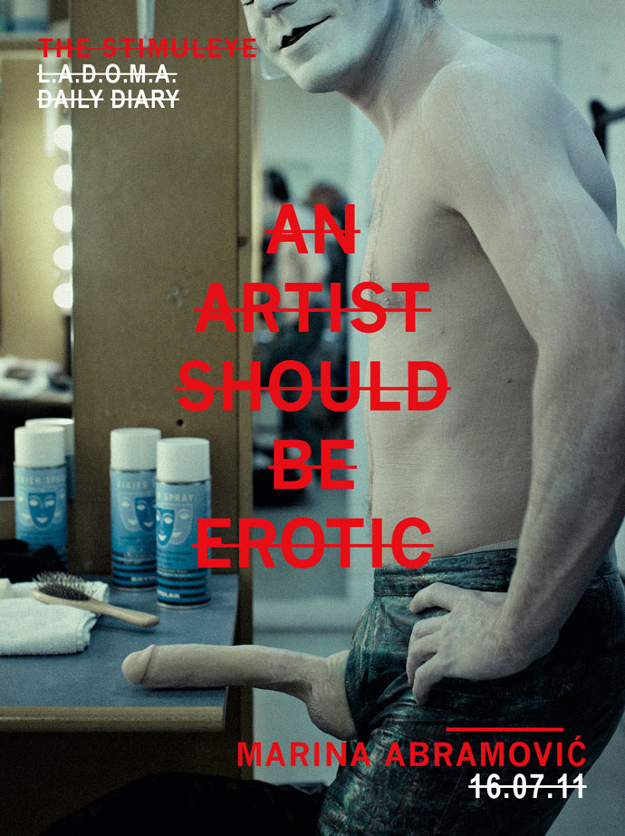 an artist should be erotic - marina abramovic