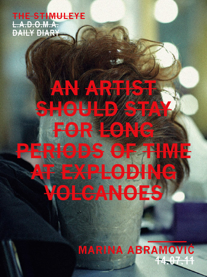 artists should stay for long periods of time at exploding volcanoes