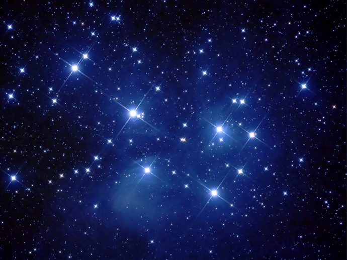 M45-Pleiades star cluster